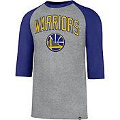 '47 Men's Golden State Warriors Raglan Three-Quarter Sleeve Shirt