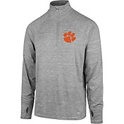 '47 Men's Clemson Tigers Grey Forward Microlite Quarter-Zip Shirt
