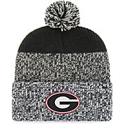 '47 Men's Georgia Bulldogs Grey/Black Static Cuffed Knit Hat