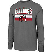 '47 Men's Georgia Bulldogs Grey Club Long Sleeve T-Shirt