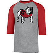 '47 Men's Georgia Bulldogs Grey/Red Club Raglan T-Shirt