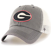 '47 Men's Georgia Bulldogs Grey/White Caprock Flexfit Hat