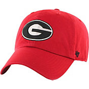 '47 Men's Georgia Bulldogs Red Clean Up Adjustable Hat