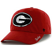 '47 Women's Georgia Bulldogs Red Sparkle Clean Up Adjustable Hat