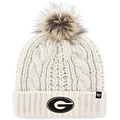 '47 Women's Georgia Bulldogs Meeko Cuffed Knit White Hat