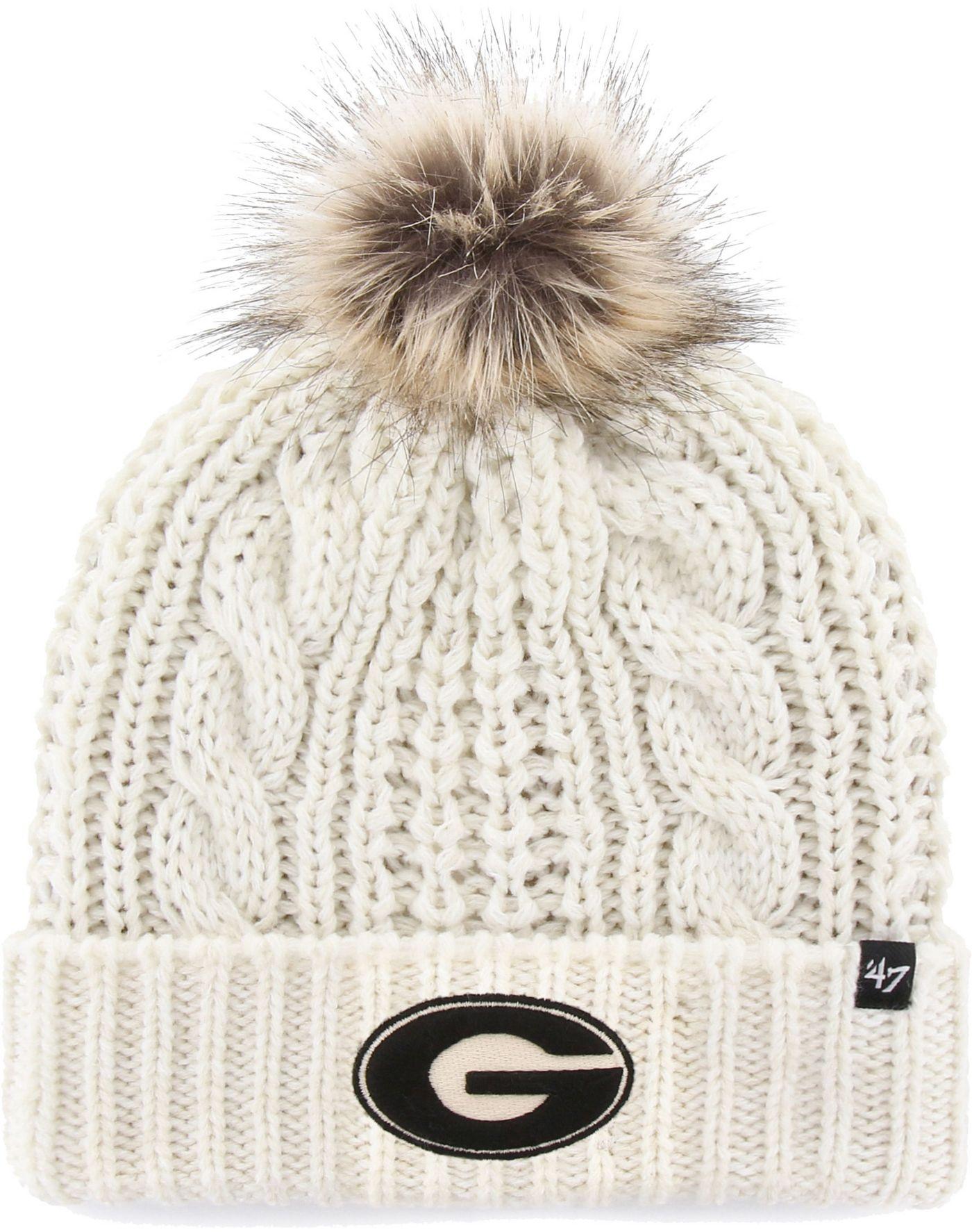 '47 Women's Georgia Bulldogs Meeko Cuffed Knit White Hat