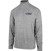 '47 Men's LSU Tigers Grey Forward Microlite Quarter-Zip Shirt
