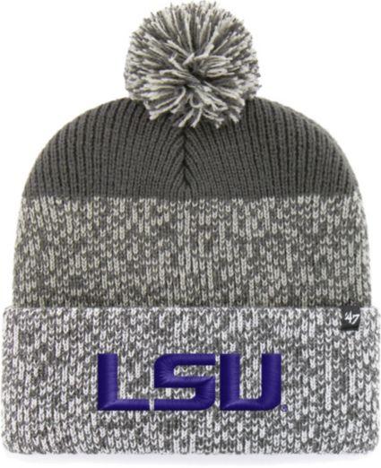 ... LSU Tigers Grey Static Cuffed Knit Hat. noImageFound af927e62d98