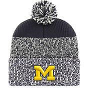 9859fa0e427 47 Mens Michigan Wolverines Grey Blue Static Cuffed Knit Hat.