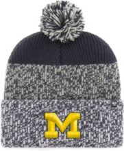 new styles f53c3 2ed14  47 Men  39 s Michigan Wolverines Grey Blue Static Cuffed Knit Hat.