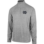 '47 Men's Notre Dame Fighting Irish Grey Forward Microlite Quarter-Zip Shirt