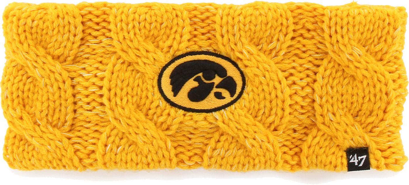 '47 Women's Iowa Hawkeyes Gold Penelope Knit Headband