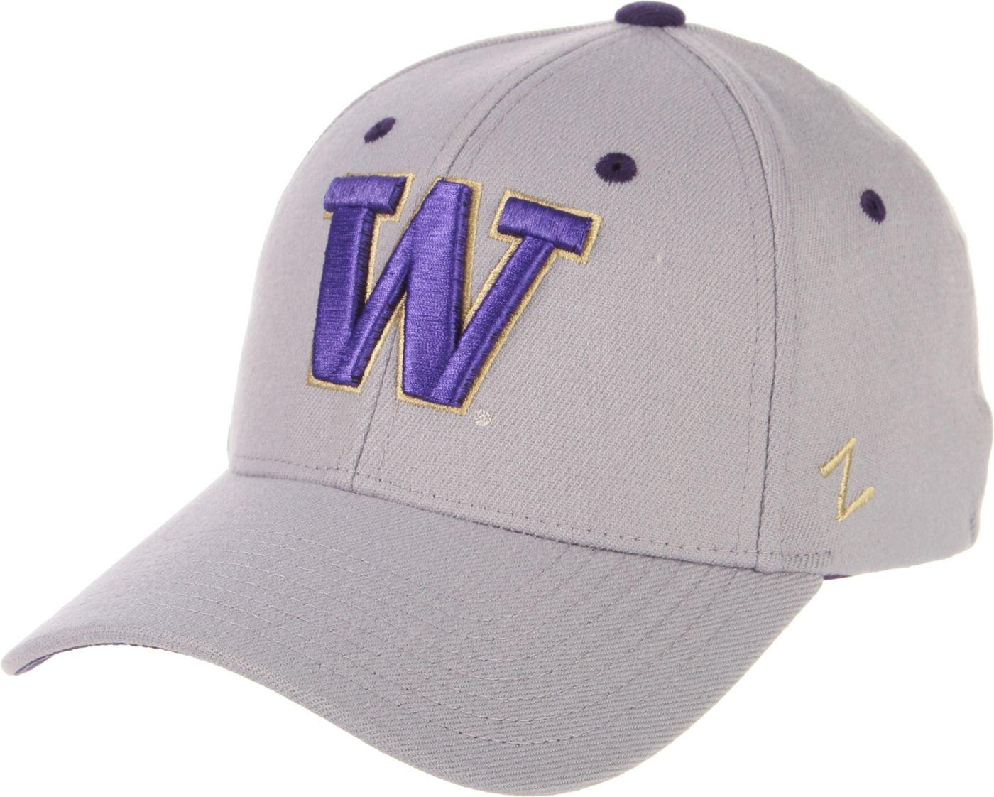 Zephyr Men's Washington Huskies Grey Wool Fitted Hat