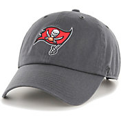 '47 Men's Tampa Bay Buccaneers Clean Up Charcoal Adjustable Hat