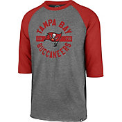 '47 Men's Tampa Bay Buccaneers Club Grey Raglan Shirt