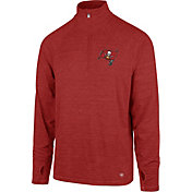 '47 Men's Tampa Bay Buccaneers Forward Red Quarter-Zip Pullover