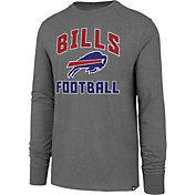 '47 Men's Buffalo Bills Game Changer Club Grey Long Sleeve Shirt