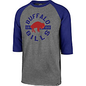 '47 Men's Buffalo Bills Club Grey Raglan Shirt
