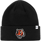 '47 Men's Cincinnati Bengals Basic Black Cuffed Knit Beanie