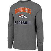 '47 Men's Denver Broncos Game Changer Club Grey Long Sleeve Shirt