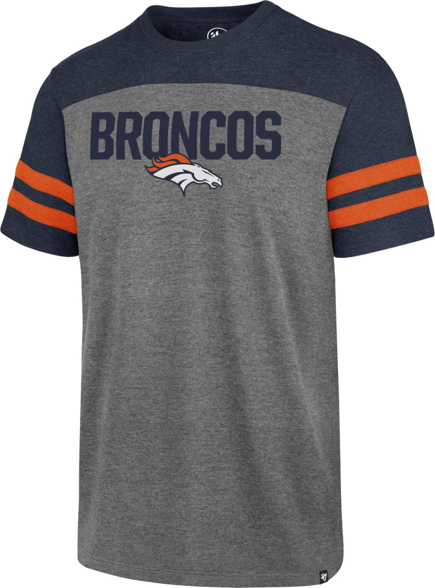 '47 Men's Denver Broncos Versus Club Grey T-Shirt