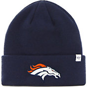 '47 Men's Denver Broncos Basic Navy Cuffed Knit Beanie