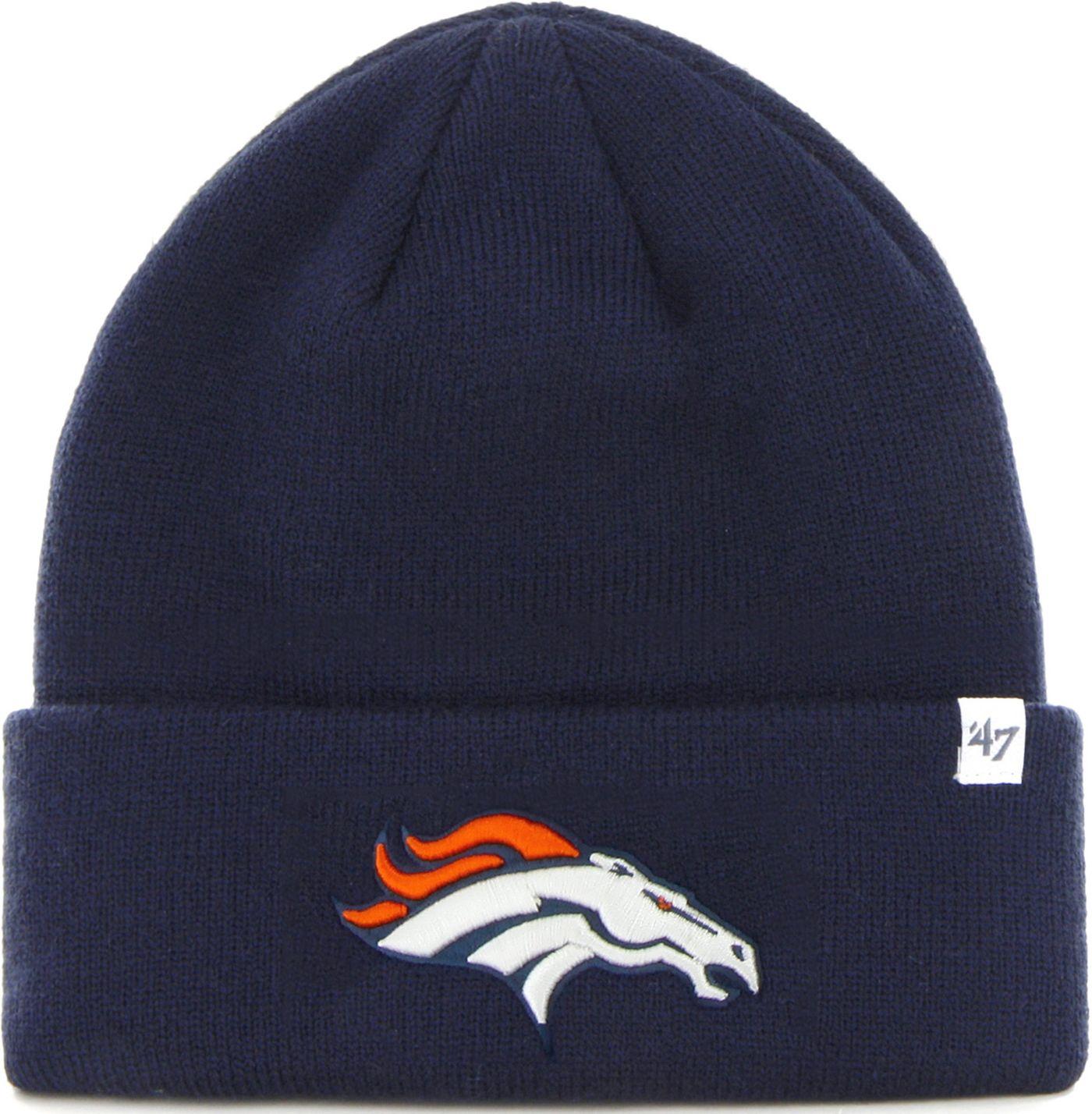 '47 Men's Denver Broncos Basic Navy Cuffed Knit Beanie