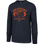 '47 Men's Chicago Bears Beardown Club Navy Long Sleeve Shirt