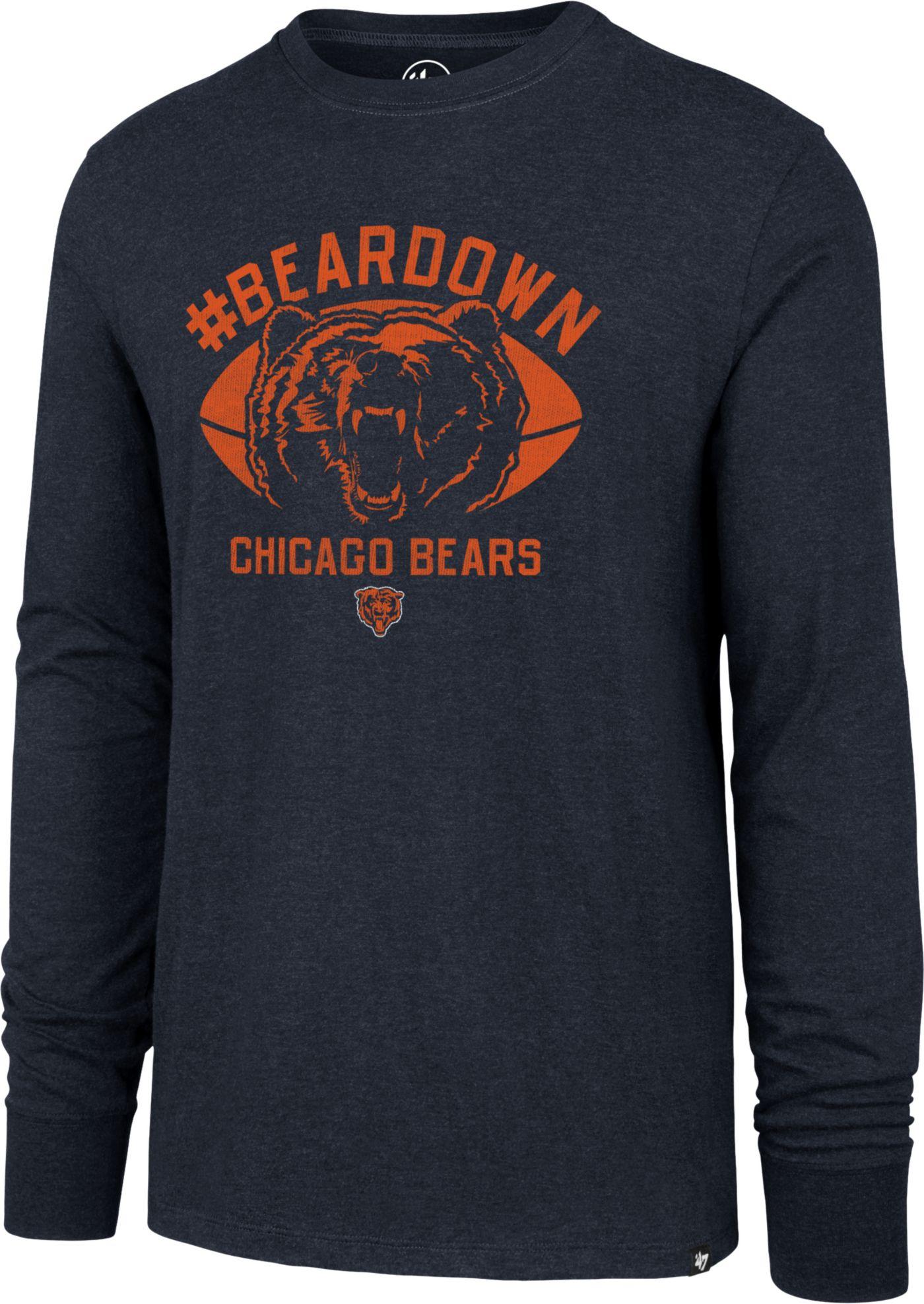 '47 Men's Chicago Bears Beardown Club Navy Long Sleeve Shirt