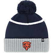 '47 Men's Chicago Bears Chop Block Navy Cuffed Pom Knit