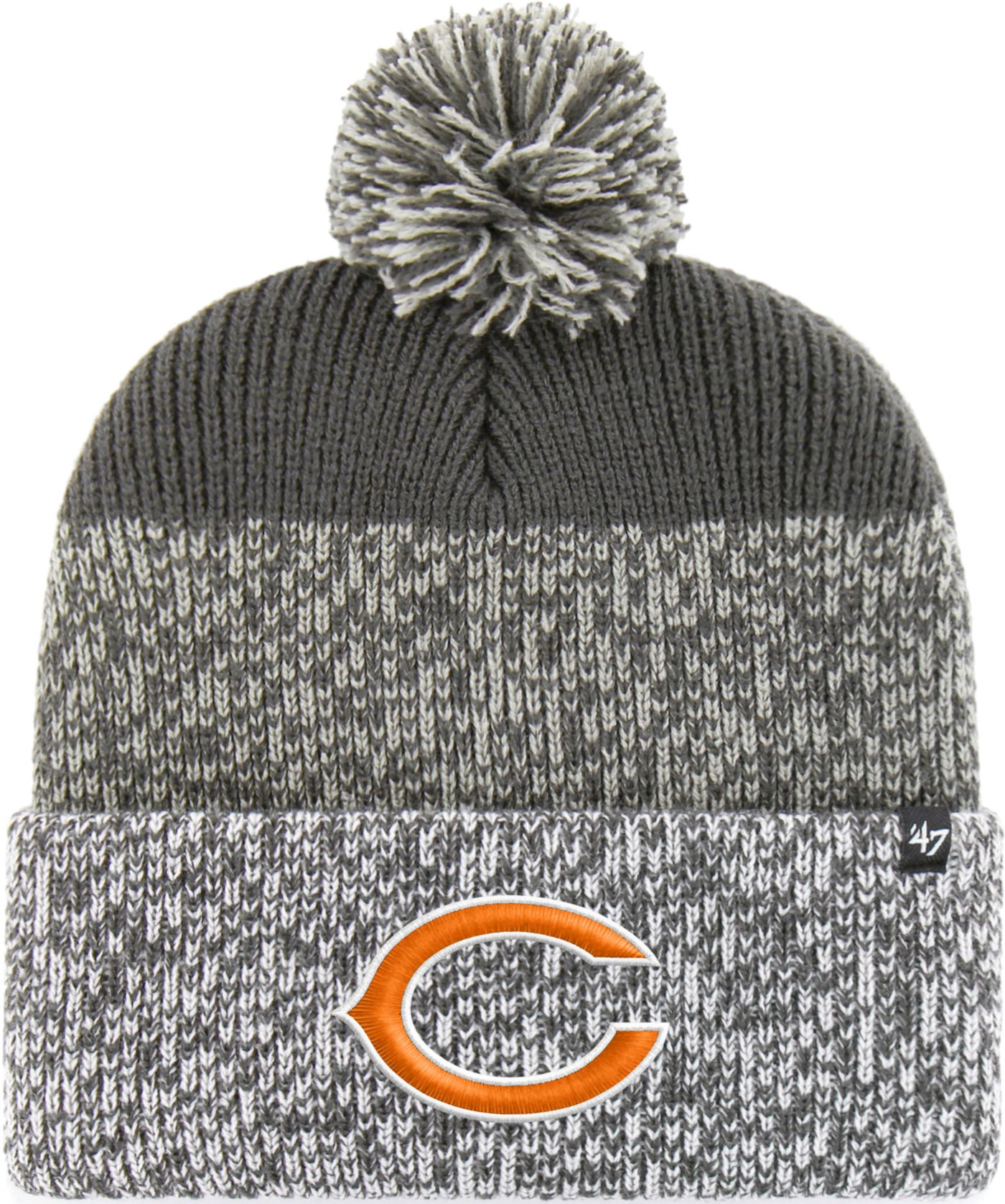 '47 Men's Chicago Bears Static Cuffed Charcoal Knit