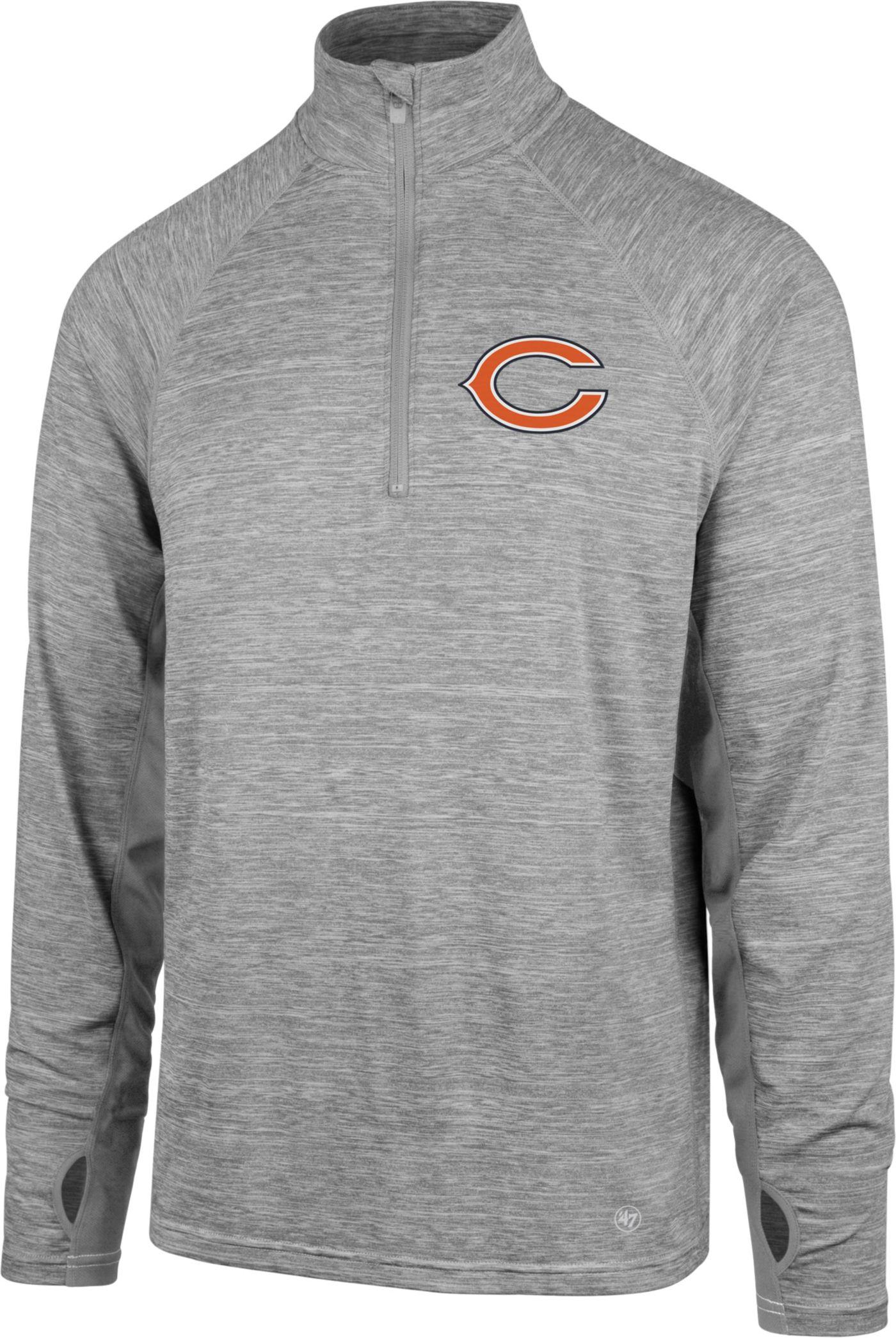 '47 Men's Chicago Bears Forward Grey Quarter-Zip Pullover