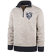 '47 Men's Chicago Bears Kodiak Quarter-Zip Oatmeal Top