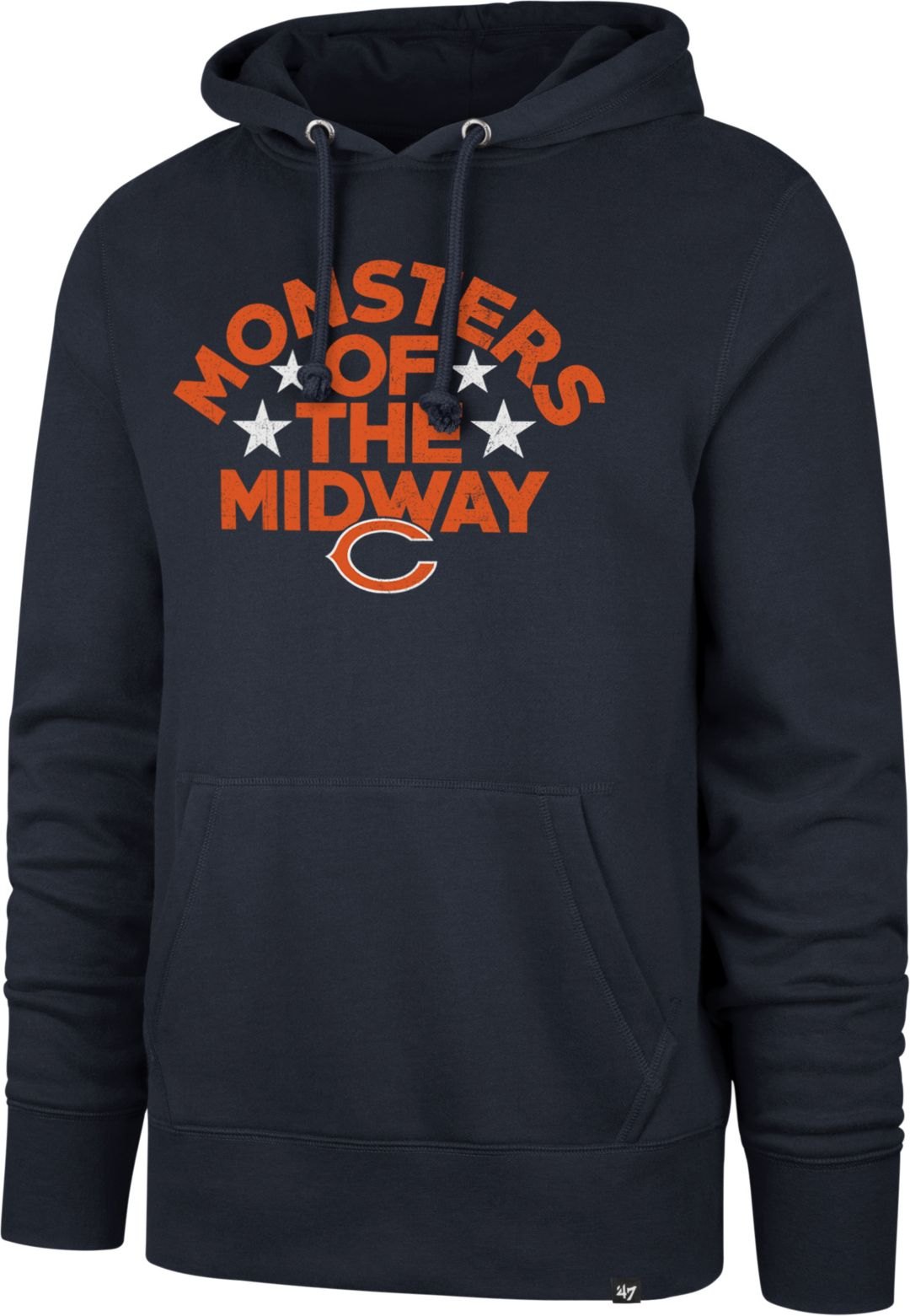 finest selection 6749f 47f84 '47 Men's Chicago Bears Monsters of the Midway Headline Navy Hoodie