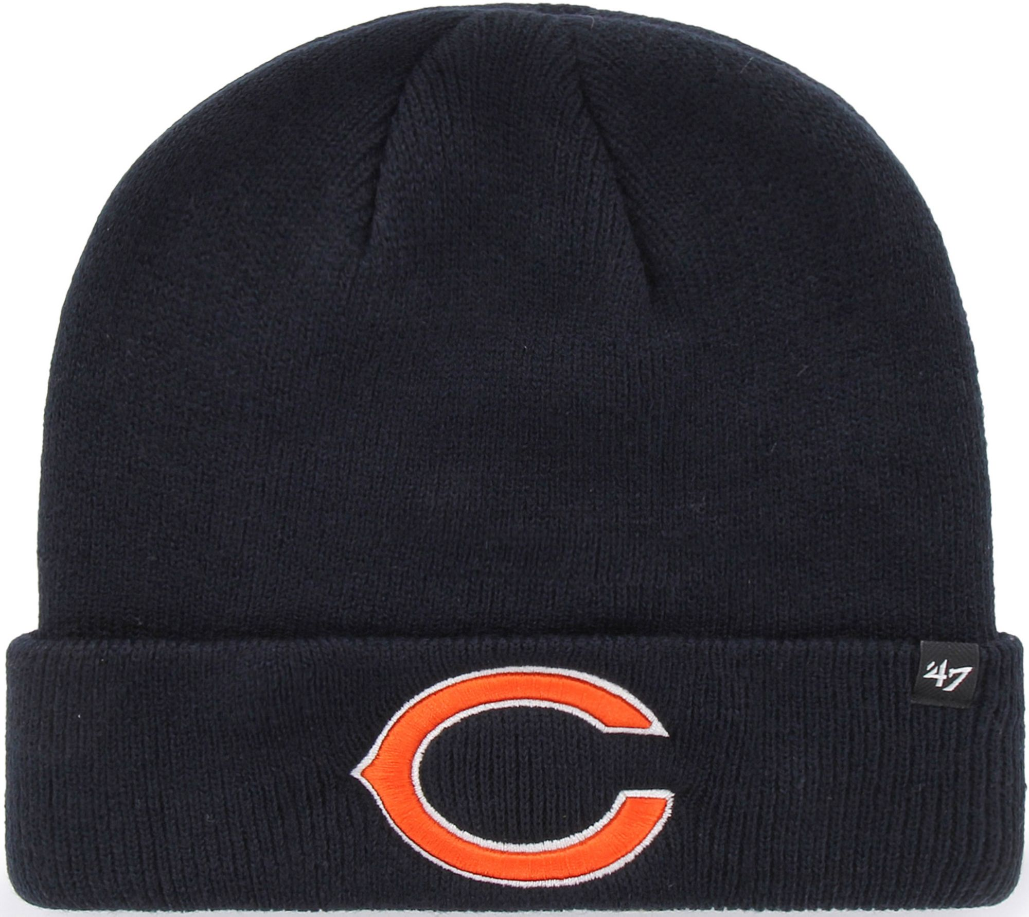 the latest f71fe 4dc53 ... czech 47 mens chicago bears basic navy cuffed knit beanie 5e528 ee3a1