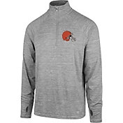 '47 Men's Cleveland Browns Forward Grey Quarter-Zip Pullover