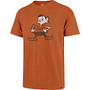 '47 Men's Cleveland Browns Legacy Scrum Logo Orange T-Shirt
