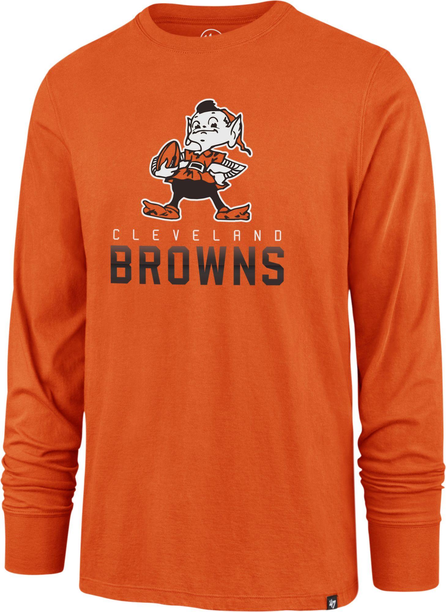 868f77f1 '47 Men's Cleveland Browns Rival Orange Long Sleeve Shirt