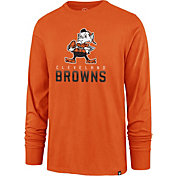 '47 Men's Cleveland Browns Rival Orange Long Sleeve Shirt