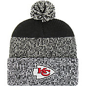 '47 Men's Kansas City Chiefs Static Cuffed Black Knit