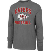 '47 Men's Kansas City Chiefs Game Changer Club Grey Long Sleeve Shirt