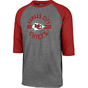 '47 Men's Kansas City Chiefs Club Grey Raglan Shirt