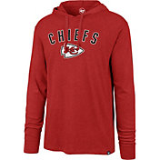 '47 Men's Kansas City Chiefs Club Red Hooded Long Sleeve Shirt