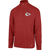 '47 Men's Kansas City Chiefs Forward Red Quarter-Zip Pullover