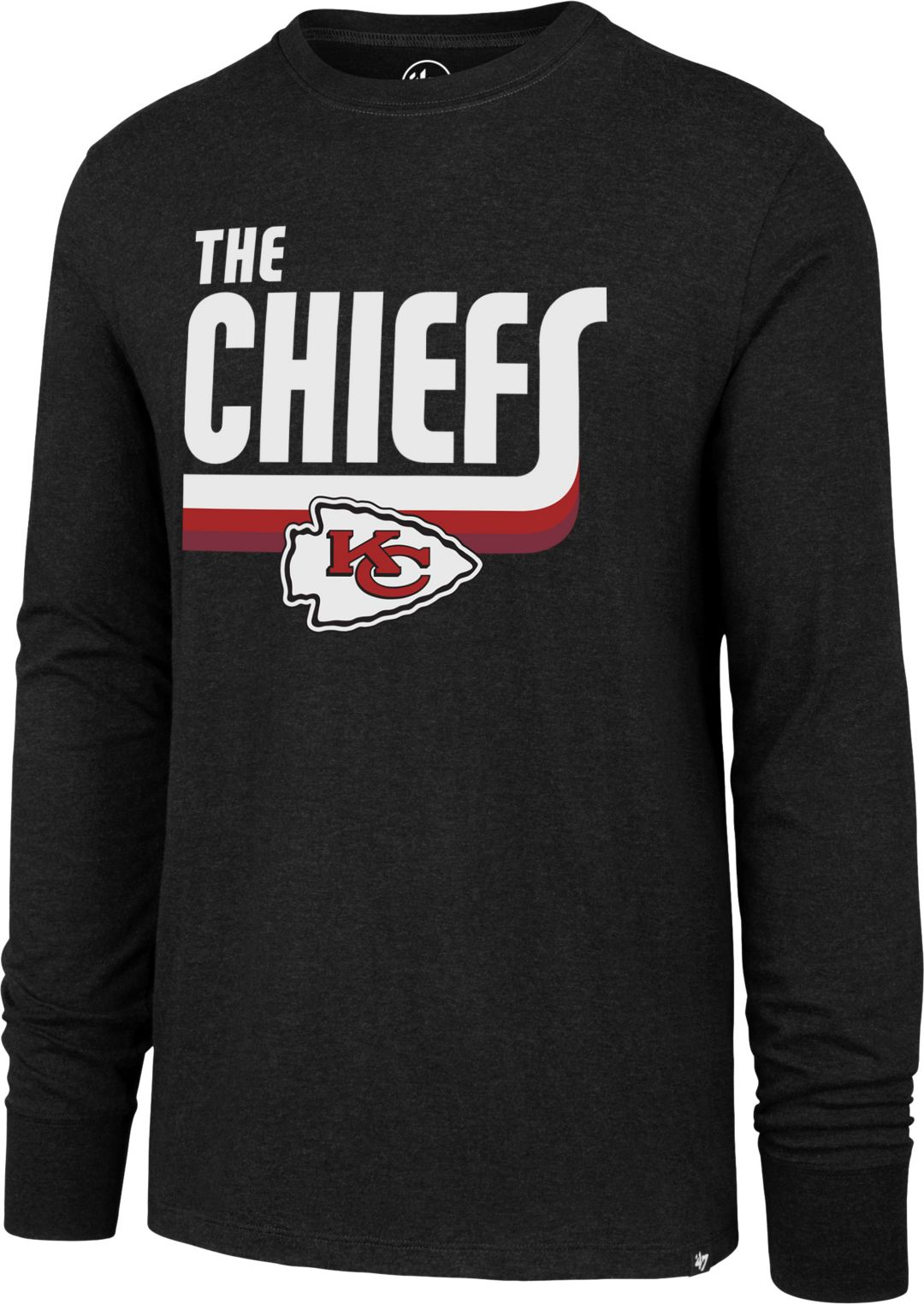 finest selection bc517 4c4bf '47 Men's Kansas City Chiefs The Chiefs Club Black Long Sleeve Shirt