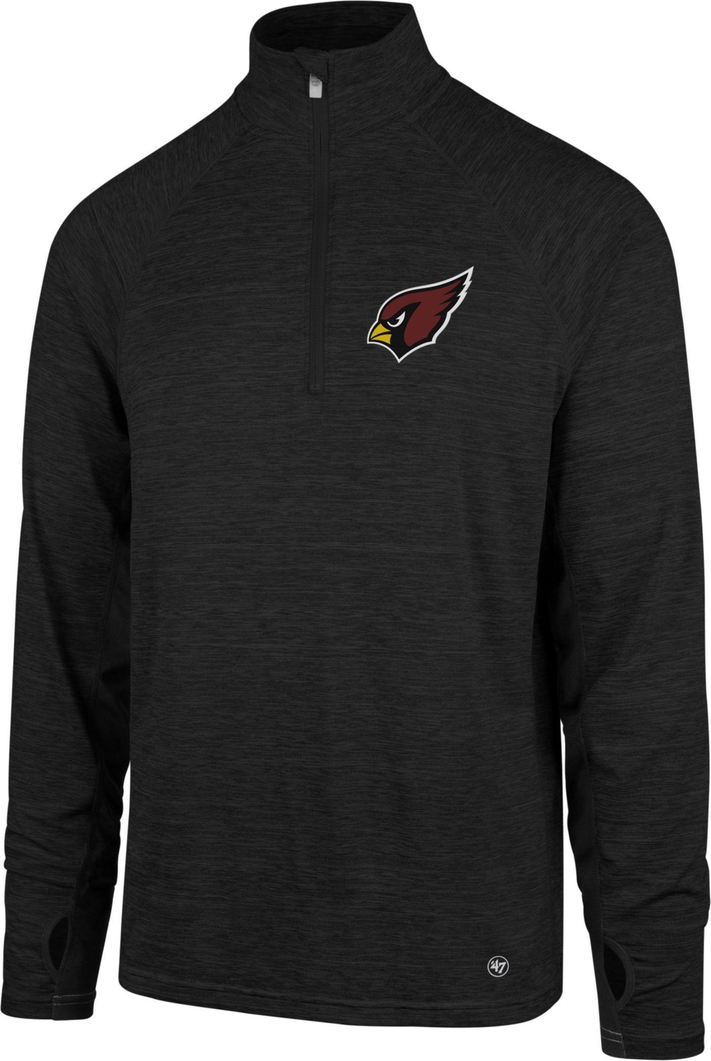 '47 Men's Arizona Cardinals Forward Black Quarter-Zip Pullover
