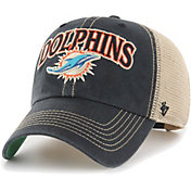 '47 Men's Miami Dolphins Tuscaloosa Clean Up Black Adjustable Hat