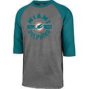 '47 Men's Miami Dolphins Club Grey Raglan Shirt