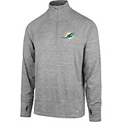 '47 Men's Miami Dolphins Forward Grey Quarter-Zip Pullover