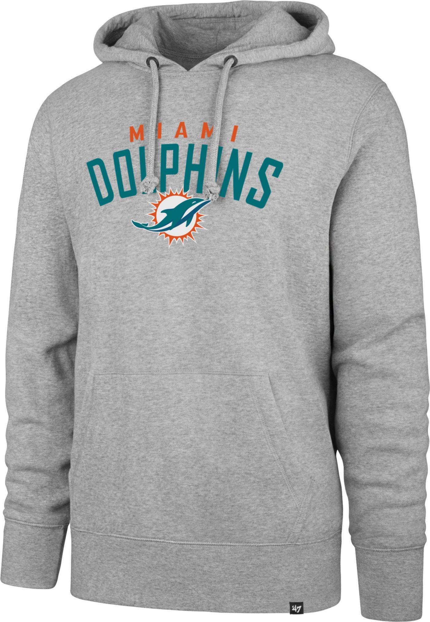'47 Men's Miami Dolphins Headline Grey Hoodie
